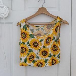 american apparel rare sunflower crop top